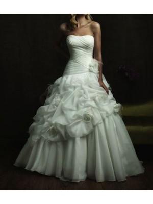 Abito da sposa Organza Decorazione fiori 00103