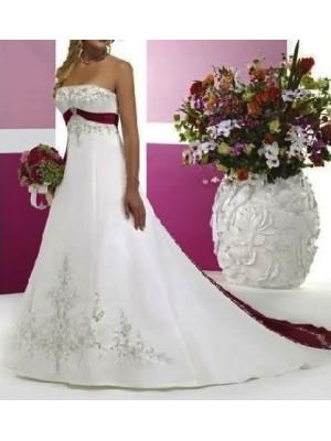 Abito da sposa Satin Ricamato 2 colori 00105
