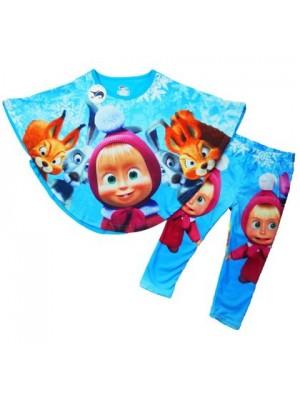 Masha e Orso Completo leggings T-shirt mantella 00880021