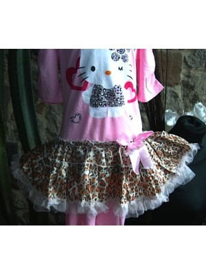 Hello Kitty set bambina vestito manica corta e leggings 220002