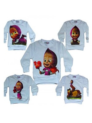 Masha e Orso T-Shirt bambina manica lunga 0808001-5