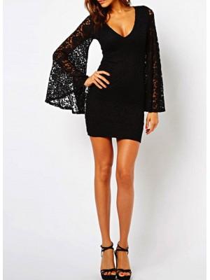 Vestito donna mini abito pizzo 110011