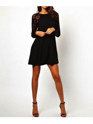 Vestito donna mini abito Pizzo Chiffon 110028
