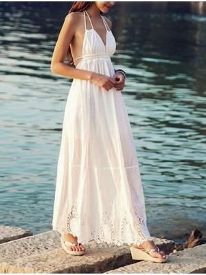 Vestito Copricostume Mare Donna Ricamato 110100