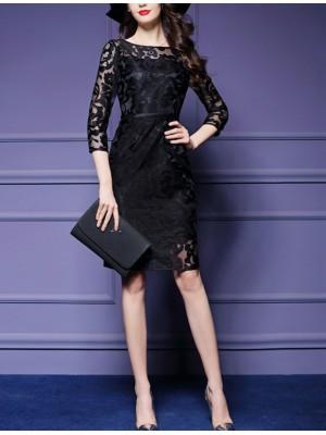 Vestito Mini Nero Donna Paillettes 110139B