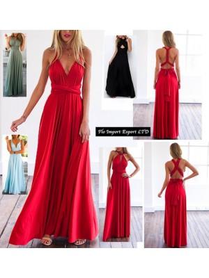 Vestito Lungo Donna Trasformabile 110178 BGS