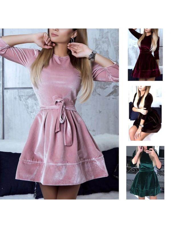 new product 903c5 6ff6a Vestito Mini Donna Velluto Feste 110338