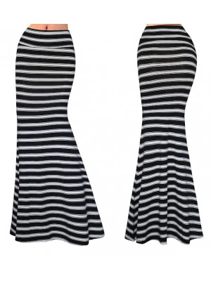 Gonna Lunga Donna Maxi a Righe 130052