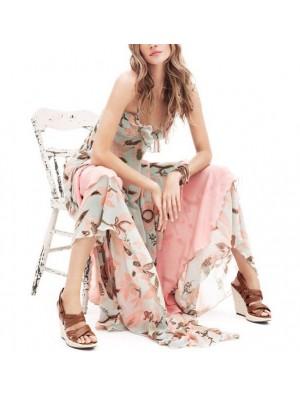 Vestito Donna Chiffon Rosa Fiori 110024