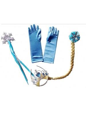 Frozen Vestiti Carnevale Elsa Set Accessori 457001