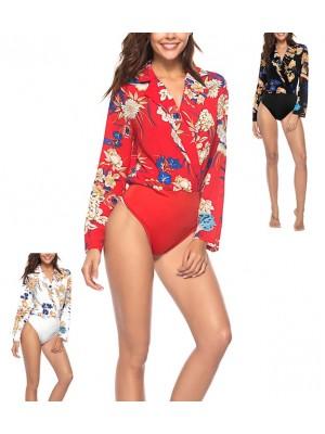 Camicia Body Floreale Manica Lunga Donna 541014
