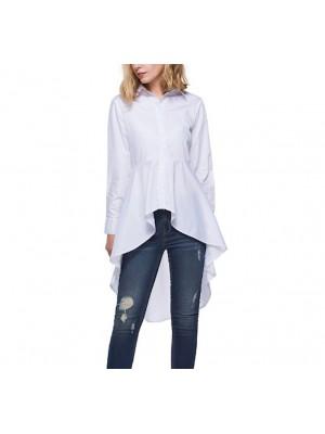 Camicia Donna Bianca Asimmetrica 541016