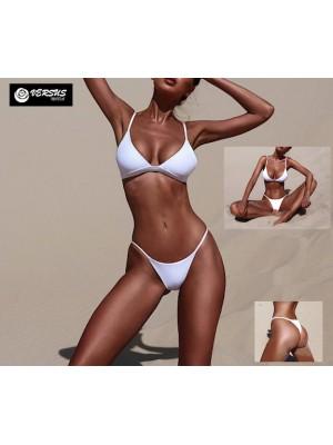 Costume da Bagno Due Pezzi Bikini Mare Donna Brasiliano 550070 BI