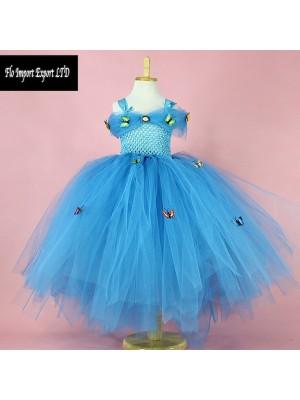Cenerentola Vestito Compleanno Carnevale in Tulle 567018
