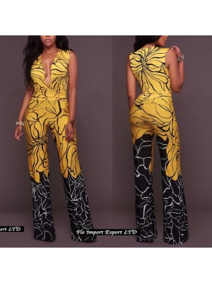 Tuta Pantaloni Casual Donna Scollo V Profondo 660014