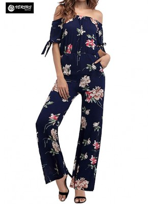 Pantaloni Tuta Donna Elegante Casual Woman Elegant Jumpsuit Trousers 660040