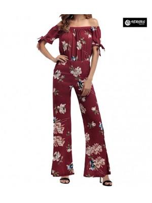 Pantaloni Tuta Donna Elegante Casual Woman Elegant Jumpsuit Trousers 660041