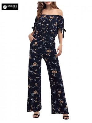 Pantaloni Tuta Donna Elegante Casual Woman Elegant Jumpsuit Trousers 660042
