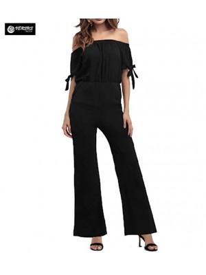 Pantaloni Tuta Donna Elegante Casual Woman Elegant Jumpsuit Trousers 660043