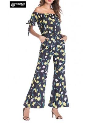 Pantaloni Tuta Donna Elegante Casual Woman Elegant Jumpsuit Trousers 660047