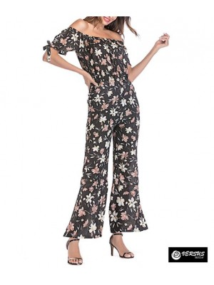 Pantaloni Tuta Donna Elegante Casual Woman Elegant Jumpsuit Trousers 660048