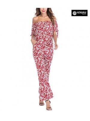 Pantaloni Tuta Donna Elegante Casual Woman Elegant Jumpsuit Trousers 660050