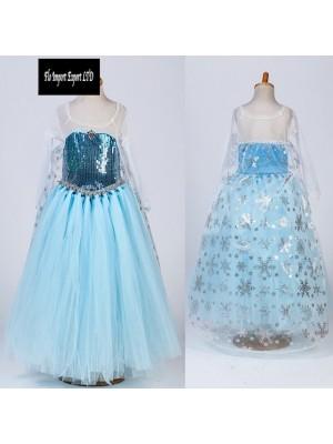 Frozen Elsa Vestito in Tulle Compleanno Carnevale 789049