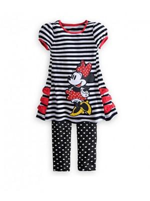 Minnie set bambina 2 pezzi maglia manica corta e pantalone MIN002