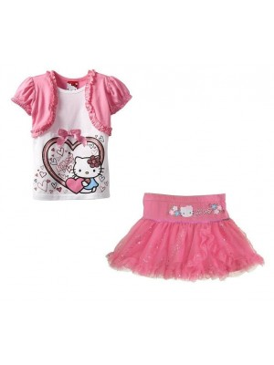 Hello Kitty set gonna e t-shirt bambina manica corta 00104