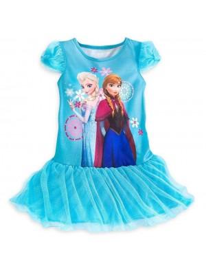 Frozen vestito bambina Blu 00010