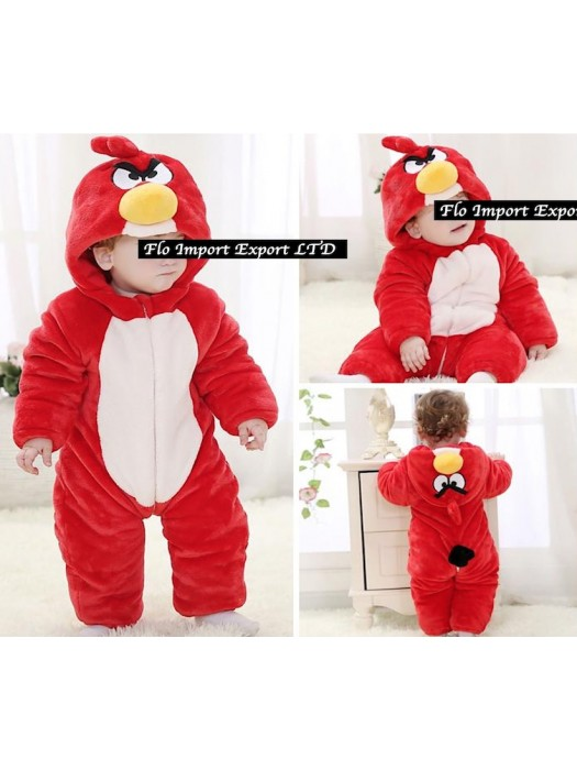 Angry Birds Costume Carnevale Calda Tuta Pile Imbottita ABIRD01