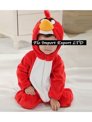 Angry Birds Costume Carnevale Calda Tuta Pile  ABIRD02