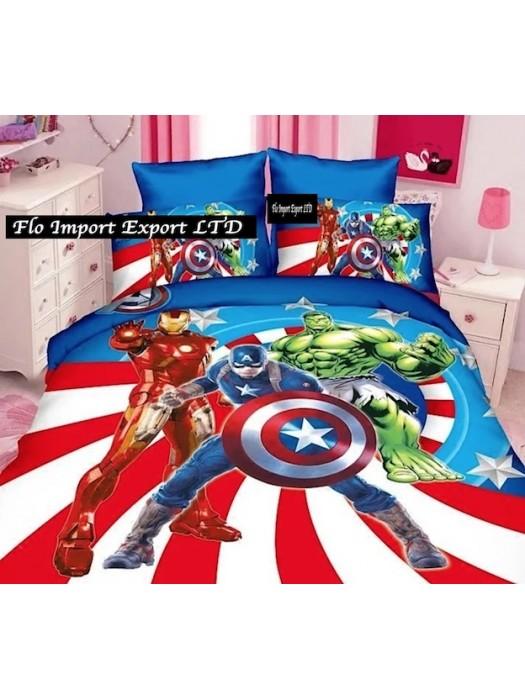 Avengers Copri Piumone Letto Copripiumino Lenzuolo AVDU02