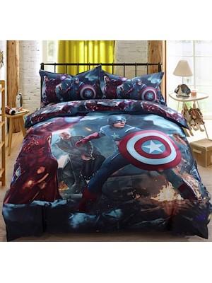 Avengers C America Copri Piumone Set Copripiumino Lenzuolo AVEND03