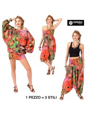 Pantaloni Blusa Caftano Tuta 1 con 3 Stili Donna AVPLIP0029