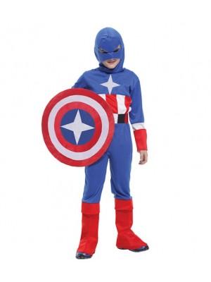 Capitan America Costume Carnevale B-0061