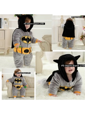 Batman Costume Carnevale Calda Tuta Pile Imbottita BATBABY01