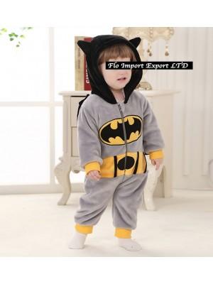 Batman Costume Carnevale Calda Tuta Pile BATBABY02