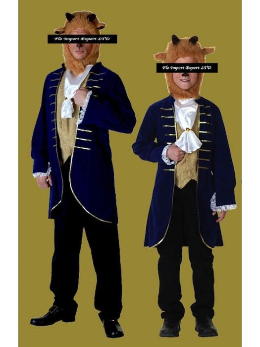grande sconto per goditi il prezzo più basso vestibilità classica La Bella e la Bestia Costume Carnevale La Bestia Uomo Bambino BEAST02