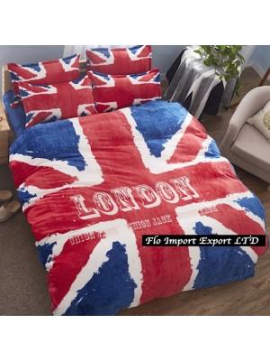 Copri Piumone Pile Lenzuolo Federe UK Flag BED0053