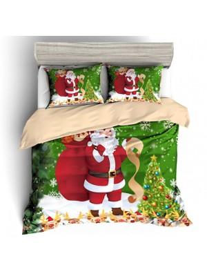 Babbo Natale Set Letto Copri Piumone Federe Copripiumone BED0090