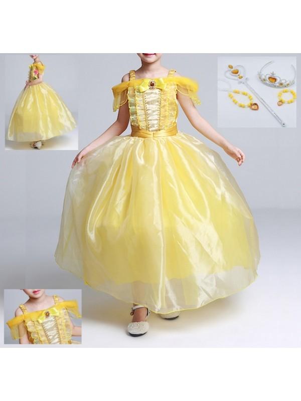 belle costume bambina  Bella Vestito Carnevale Maschera Bambina BELG001DIR