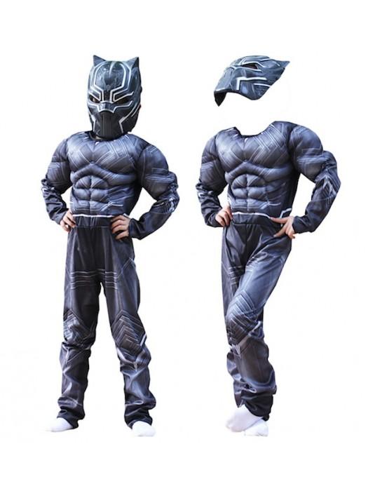 Simile Black Panther Costume Carnevale Bambino Uomo BLACKP01