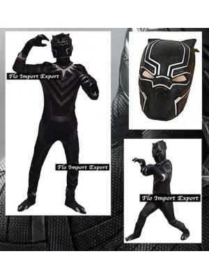Simile Black Panther Costume Carnevale Bambino Uomo BLACKP03