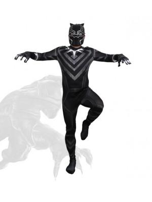 Simile Black Panther Costume Carnevale Bambino Uomo BLACKP04