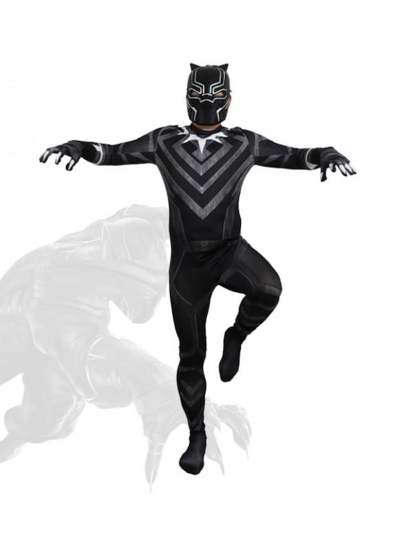 black panther costume bambino  Simile Black Panther Costume Carnevale Bambino Uomo BLACKP04