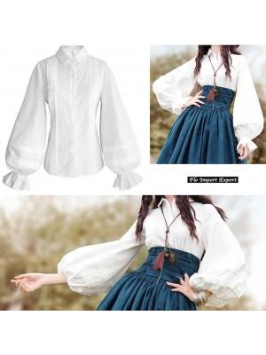Camicia Donna Alta Qualità Manica Palloncino BOSHT03