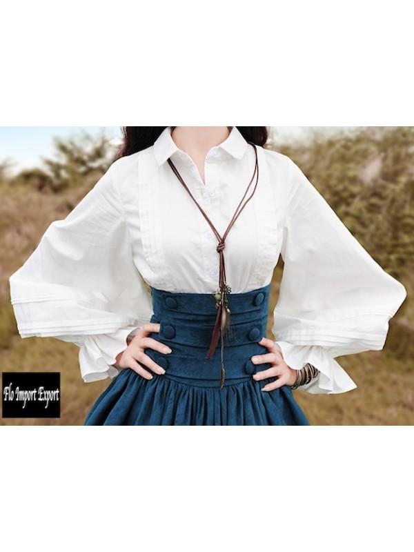 Alta Manica Bosht03 Donna Palloncino Camicia Qualità c54AS3RjLq