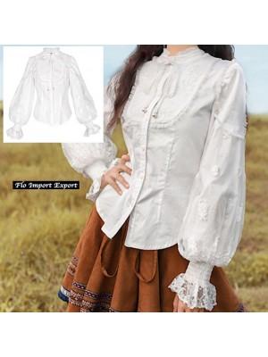 Camicia Donna Alta Qualità Manica Palloncino Vintage BOSHT05