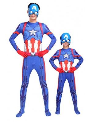 Simile Capitan America Vestito Costume Carnevale Bambino Uomo CAPMK01